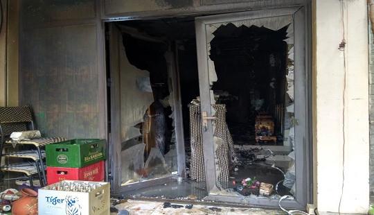 Cháy lớn tại quán hát cho nhau nghe, 1 người tử vong