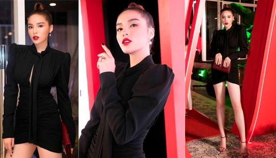 Hoa hậu Kỳ Duyên khoe chân dài 1m10 với gu mặc sang chảnh, gợi cảm