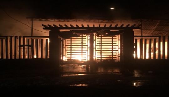 Cửa hàng tạp hoá cháy trong đêm, 1 tỷ đồng chìm trong biển lửa