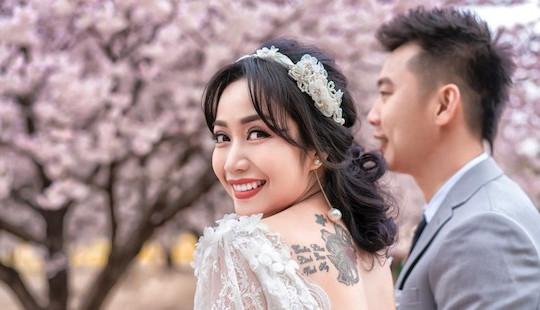 11 năm kết hôn, Ốc Thanh Vân hạnh phúc khoe ảnh cưới chụp tại Hàn