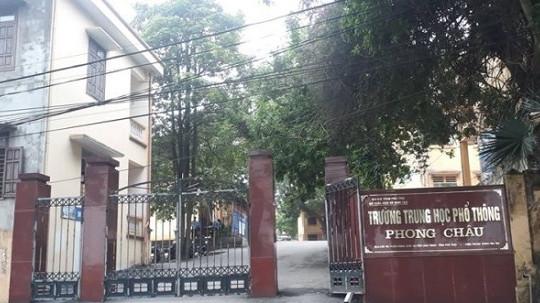 Sở GD-ĐT Phú Thọ báo cáo Bộ GD-ĐT về nghi vấn nam sinh làm nhiều nữ sinh mang bầu