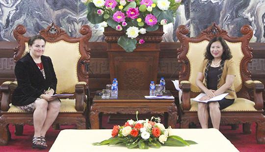 Phó Chánh án TANDTC Nguyễn Thúy Hiền tiếp xã giao Trưởng văn phòng UN Women