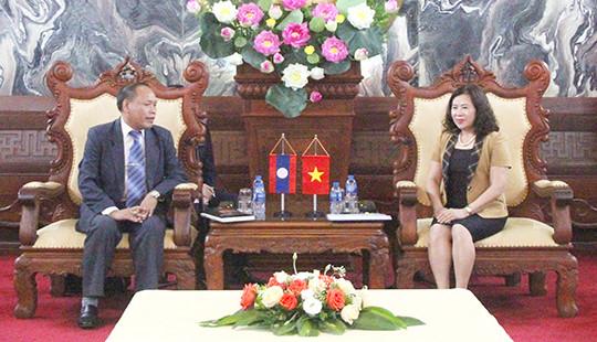 Phó Chánh án TANDTC Nguyễn Thúy Hiền tiếp xã giao Thẩm phán TANDTC Lào