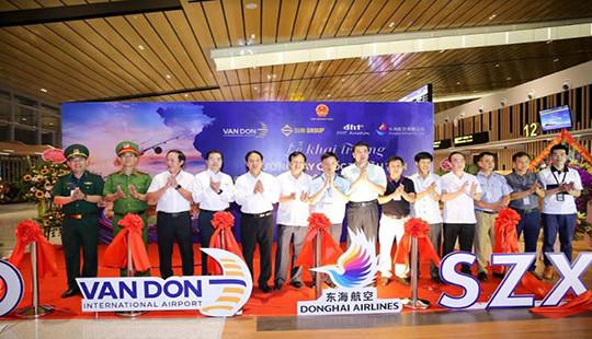 Cảng Hàng không Quốc tế Vân Đồn khai trương đường bay Vân Đồn - Thẩm Quyến