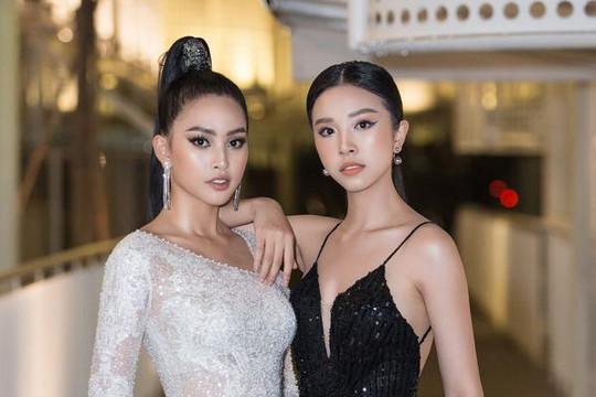 Cùng diện đầm xẻ cao, hoa hậu Tiểu Vy và á hậu Thúy An đọ sắc tại show Đỗ Long