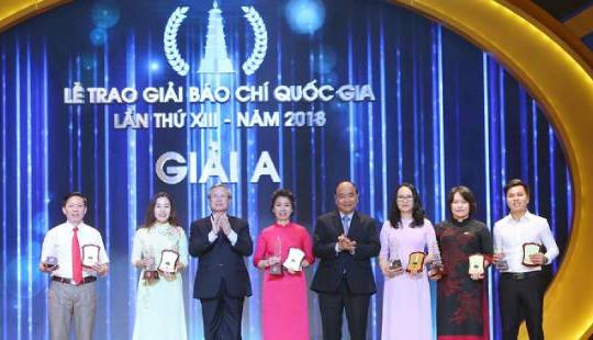 Lễ trao Giải Báo chí Quốc gia 2018