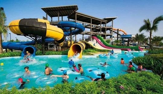 Cùng khám phá công viên nước Thanh Hà đẹp như công viên Disneyland