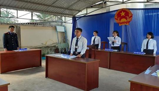 Chi đoàn TAND tỉnh Tây Ninh tổ chức phiên tòa giả định trong chiến dịch Kỳ nghỉ hồng 2019