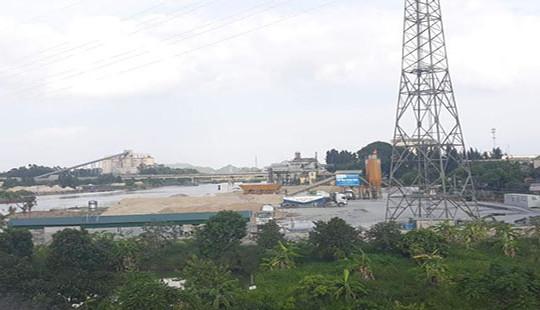 Kinh Môn (Hải Dương): Trạm trộn bê tông không phép ngang nhiên hoạt động