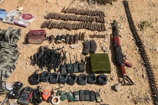 Ai Cập tiêu diệt 11 phần tử khủng bố, thu giữ nhiều vũ khí