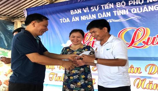 Ban Vì sự tiến bộ phụ nữ TAND tỉnh Quảng Ngãi tổ chức tọa đàm, giao lưu