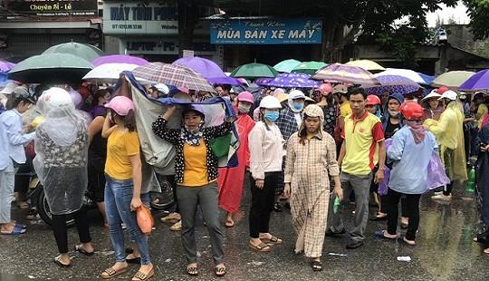 Hàng nghìn công nhân Cty KaiYang Việt Nam lại xuống đường kêu cứu