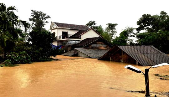 Chùm ảnh về vùng rốn lũ huyện Hương Khê