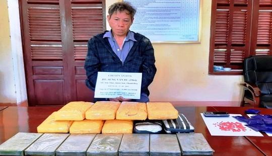 Vận chuyển 7 bánh heroin, 56.000 viên ma túy từ Lào vào Việt Nam