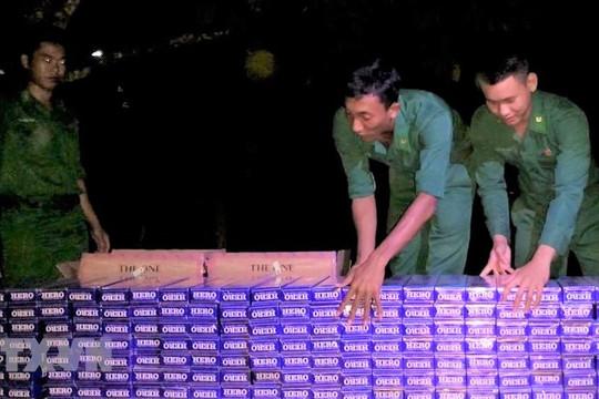 Phát hiện 5000 bao thuốc lá nhập lậu trong đêm