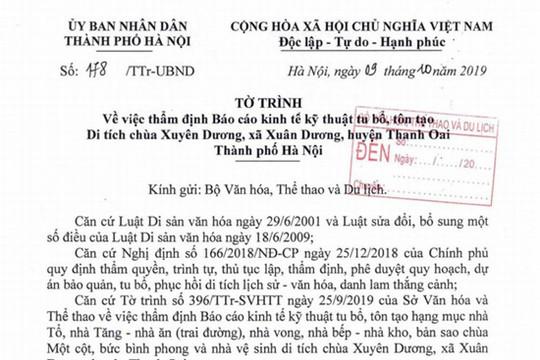 Thẩm định Báo cáo KTKT tu bổ, tôn tạo di tích chùa Xuyên Dương