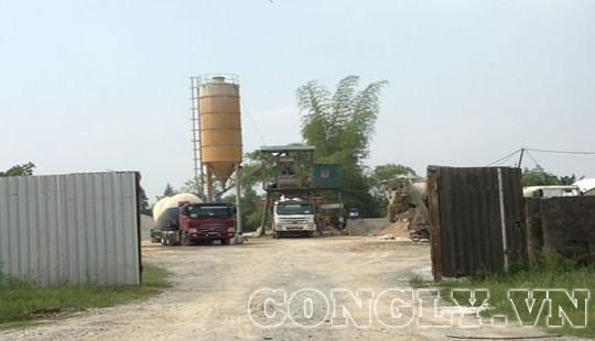 Hà Tĩnh: Trạm trộn bê tông Công ty Thành Vinh có hoạt động đúng mục đích?