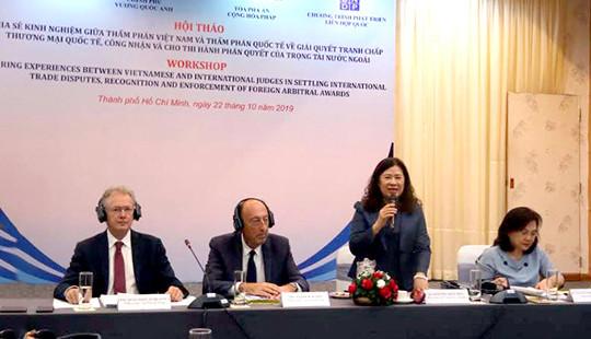 TANDTC phối hợp tổ chức hội thảo về giải quyết tranh chấp thương mại quốc tế