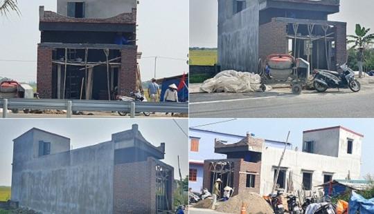 Huyện Vĩnh Bảo, Hải Phòng: Công trình không phép xây dựng trên đất tranh chấp