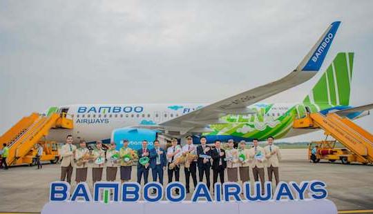 """Bamboo Airways đón máy bay Airbus A320neo đầu tiên trong chiếc áo """"Fly Green"""" ấn tượng"""