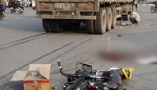 Nữ sinh tử vong thương tâm sau va chạm với xe đầu kéo