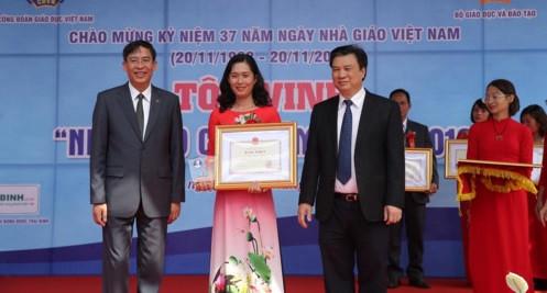 183 nhà giáo tiêu biểu được trao tặng Bằng khen của Bộ trưởng Bộ GD-ĐT