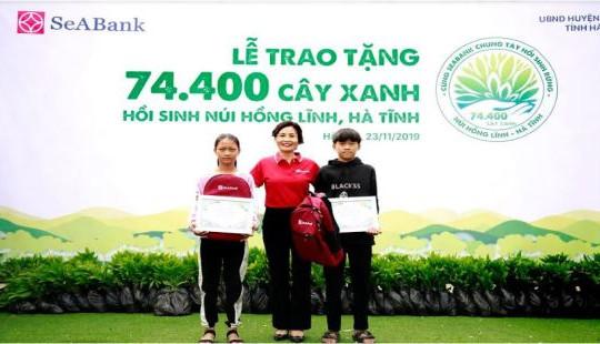 SeABank trao tặng 74.400 cây xanh hồi sinh núi Hồng Lĩnh - Hà Tĩnh
