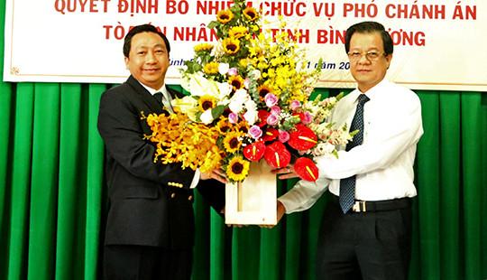 Bổ nhiệm Phó Chánh án TAND tỉnh Bình Dương