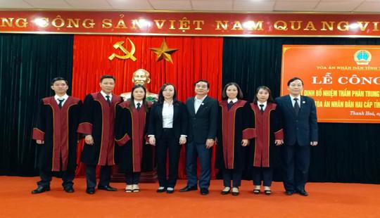 TAND tỉnh Thanh Hóa trao quyết định bổ nhiệm chức danh Thẩm phán trung cấp và sơ cấp