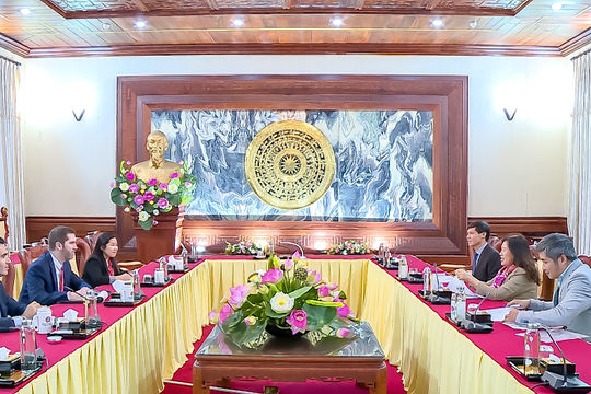 Phó Chánh án TANDTC Nguyễn Thúy Hiền tiếp Giám đốc phụ trách Chương trình INL tại Việt Nam