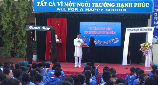 """Trường THCS Lê Chân """"nói không với ma túy học đường"""""""