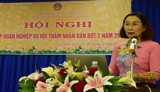 TAND tỉnh Tây Ninh tập huấn nghiệp vụ Hội thẩm nhân dân đợt hai