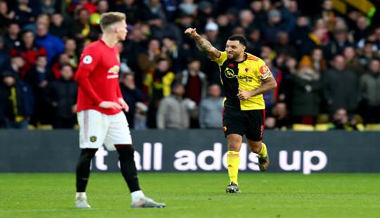 MU sụp đổ trước Watford và tụt sâu trên bảng xếp hạng Ngoại hạng Anh