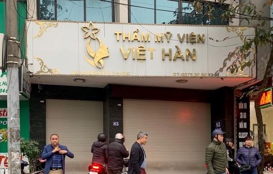 Người đàn ông tử vong tại Thẩm mỹ viện Việt Hàn