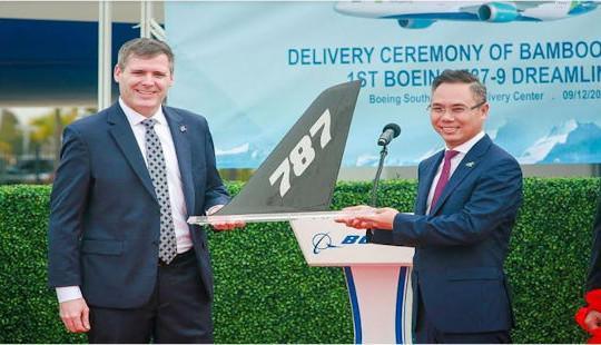 Bamboo Airways nhận bàn giao máy bay Boeing 787-9 Dreamliner tại Trung tâm bàn giao của Boeing tại South Carolina, Mỹ