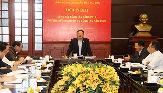 Đảng ủy TANDTC triển khai nhiệm vụ công tác năm 2020