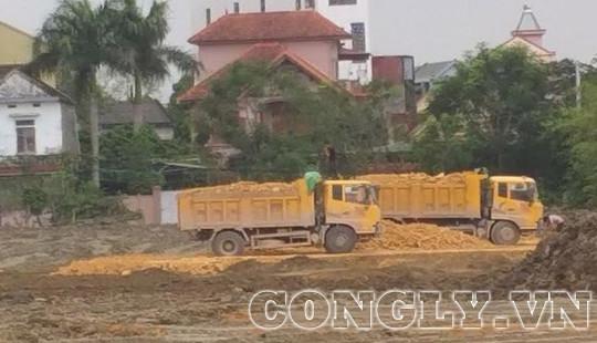 Huyện Đô Lương-Nghệ An: Dự án thu hút đầu tư dùng đất chưa rõ nguồn gốc để san nền