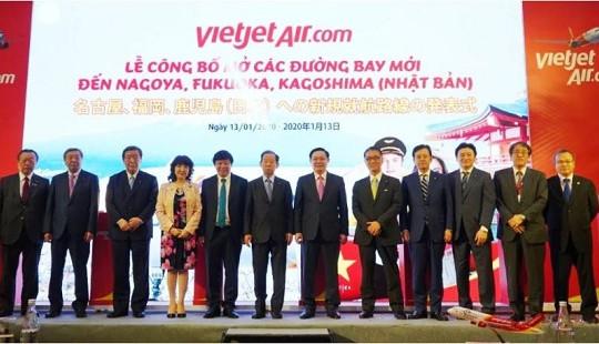 """Góp phần đẩy mạnh quan hệ Việt - Nhật, Vietjet mở thêm 5 đường bay mới tới """"xứ sở mặt trời mọc"""""""