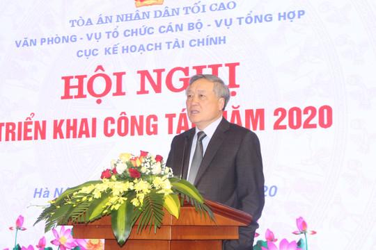 Các đơn vị thuộc TANDTC phối hợp tổ chức Hội nghị triển khai công tác năm 2020