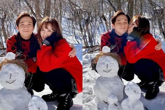 Hari Won mừng sinh nhật Trấn Thành ở Hàn Quốc