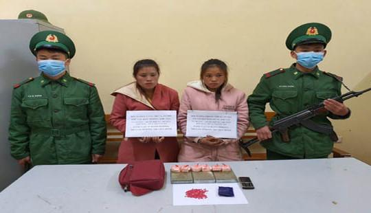 Bắt giữ 2 đối tượng Lào vận chuyển heroin vào Việt Nam