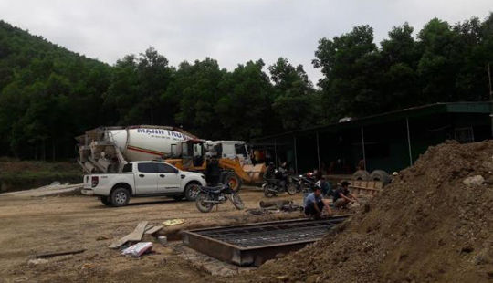 Huyện Tân Kỳ - Nghệ An: Trạm trộn bê tông hoạt động không phép