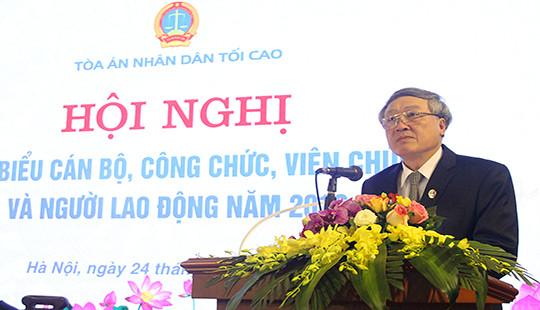 TANDTC tổ chức Hội nghị đại biểu cán bộ, công chức, viên chức và người lao động năm 2019
