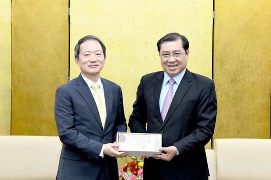Chủ tịch UBND TP Đà Nẵng tiếp Tổng Lãnh sự Hàn Quốc tại Đà Nẵng