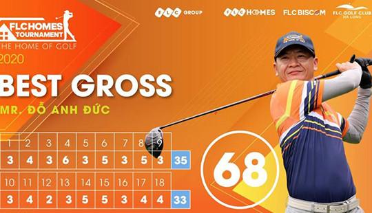 Golfer Đỗ Anh Đức tái lập kỷ lục 68 gậy - Lần thứ 2 nâng cup vô địch giải  FLCHomes Tournament 2020
