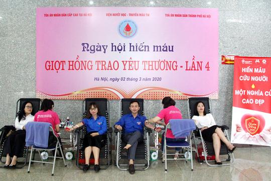 TAND cấp cao tại Hà Nội tổ chức hiến máu nhân đạo lần thứ 4