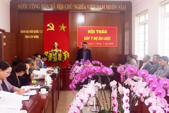 Đoàn ĐBQH tỉnh Lâm Đồng góp ý về dự thảo Luật Hòa giải, đối thoại tại Tòa án