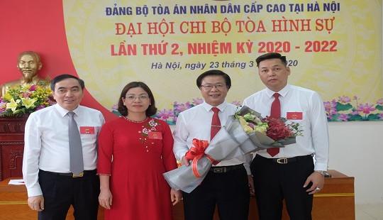Đại hội Chi bộ Tòa Hình sự - TAND cấp cao tại TP Hà Nội