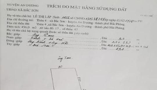 Huyện An Dương, TP Hải Phòng: Cán bộ xã bị tố cấu kết làm giả giấy tờ để chiếm đoạt đất