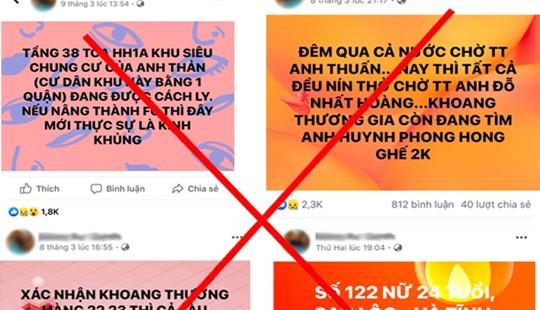 Làm rõ hành vi của Facebooker đăng tải hơn 200 tin thất thiệt về dịch Covid-19